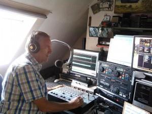De studio van Hollands Palet met presentator Ger Kruger.