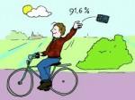 Wég met de smartphone is het veiligst. © vogelvrijefietser