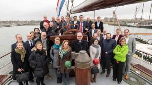De deelnemers aan de conferentie maakten alvast een rondje over het IJsselmeer. © ANWB