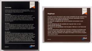 Enkele voorbeelden van de informatiepanelen.