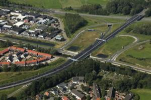 Het nieuwe Knooppunt Boterdiep op de oostelijke ringweg. © Provincie Groningen