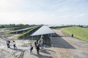 Het nieuwe Zonnepark Woldjerspoor. © Gemeente Groningen