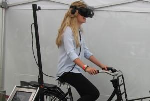 Groningen heeft de primeur met deze 3 D Afleiding Bike.