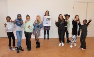 De enthousiaste redactie van de Kinderkrant. © Gemeente Groningen